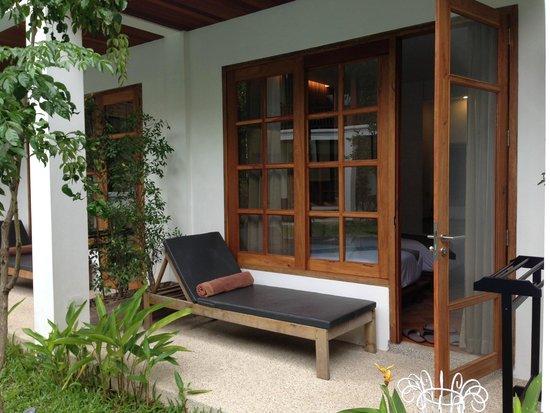Le Sen Boutique Hotel: Door access to swimming pool