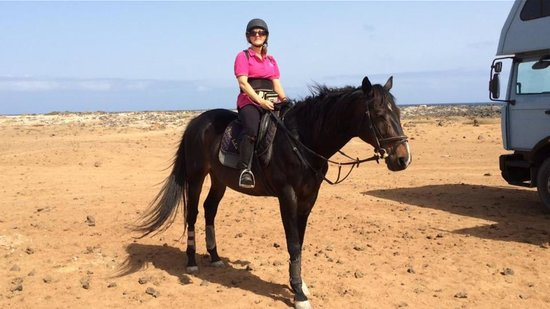 Finca Julie Horse Riding: Me and the handsome Zorro who took great care of me!