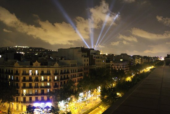 H10 Casanova : View from the terrace out towards Montjuic