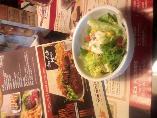 Buffalo Grill : salade offerte