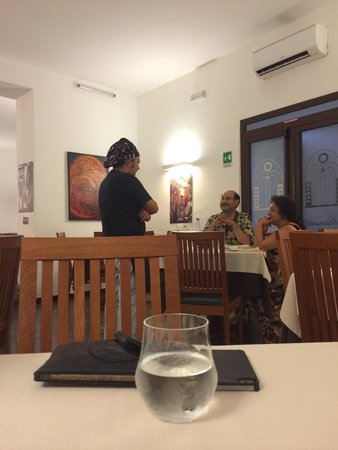 Al Fondaco del Conte : Le chef en salle
