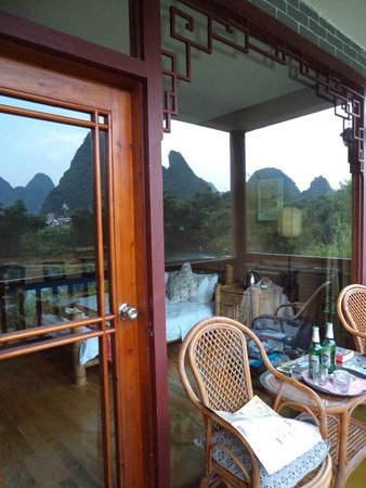 Yangshuo Mountain Retreat : Balcony of Room 204