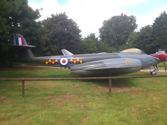 Norfolk and Suffolk Aviation Museum: one of many aircraft on display outside