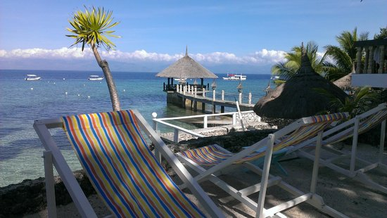 Asian-Belgian Dive Resort: No sandy beach but you can chill here