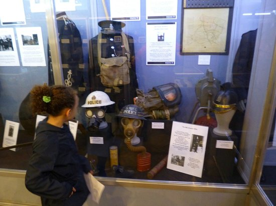 Greater Manchester Police Museum: War time exhibit