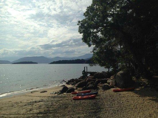 Estrela da Ilha: the beach front area of the pousada