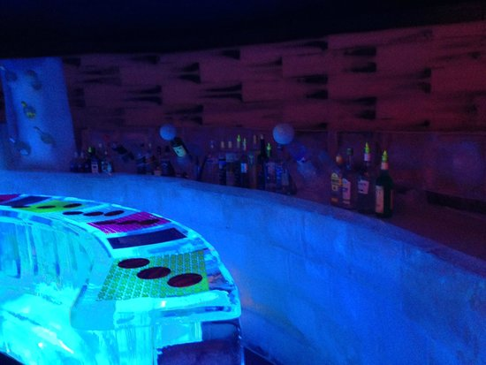 The Ice bar in the Ice space
