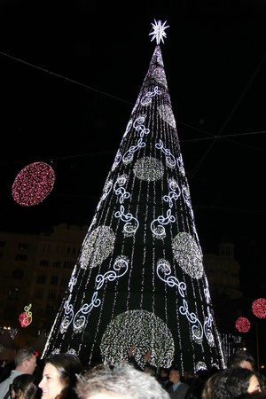 Plaza Ayuntamiento: испанская типа елка)))