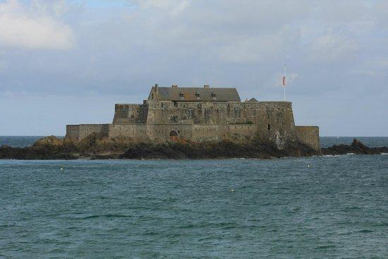 Fort National : Le fort par marée haute