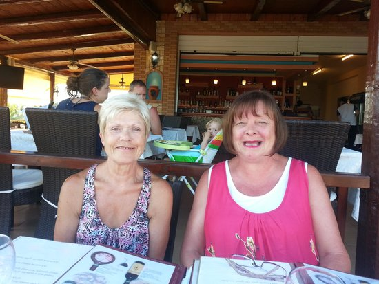 Heaven's Kitchen: lovely picture of the wife and sister-in-law christina