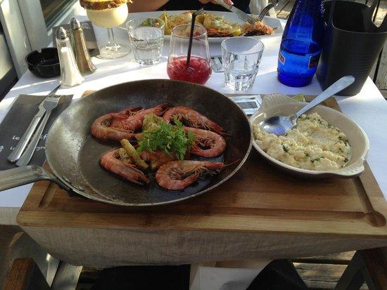 Le Golfy : Poêlés de crevettes et son risotto