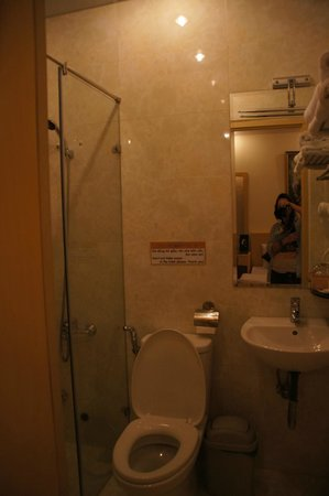 Tulip Hotel Dalat II : Крошечная ванная с душем