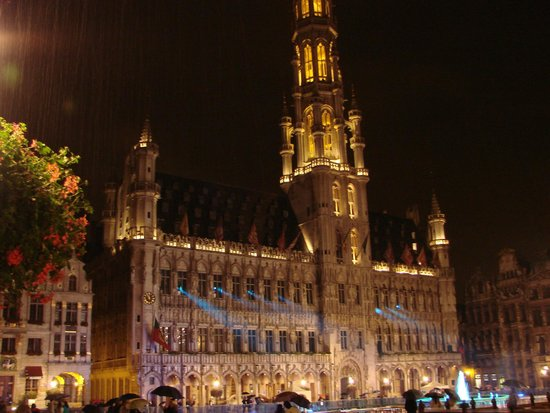 Town Hall (Hotel de Ville): the town hall at night