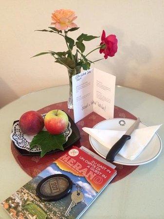 Hotel Meranerhof: Lovely welcome card