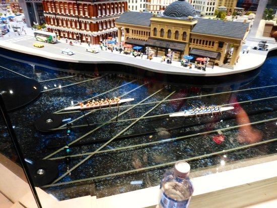 Legoland Discovery Center: Rowing on the Charles River