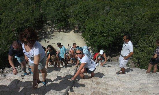 Ruinas de Coba: Спускаться вниз тяжелее, чем подниматься