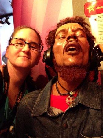 Madame Tussauds Amsterdam: Me and Bob Marley