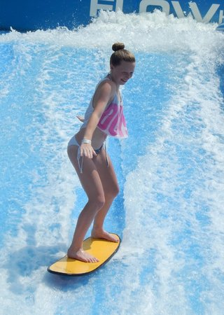 Wave House Sentosa: 14 yr old