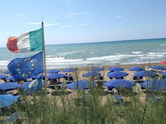Hotel Villa Lo Scoglietto: Aussicht von der Hotelterasse