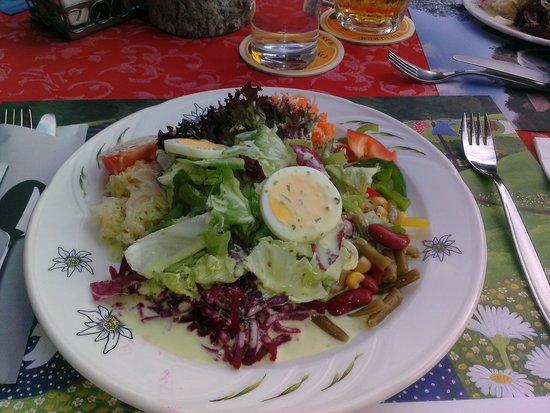 Hotel-Restaurant Alpina : Salad