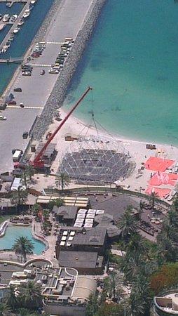 Barasti Beach Bar : Barasti's world cup dome being built
