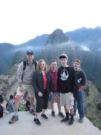 Machu Travel Peru Day Tours: Esmeralda captured this family shot at Machu Pichu