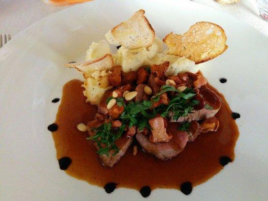 L'authentic : Filet de veau, purée aux truffes