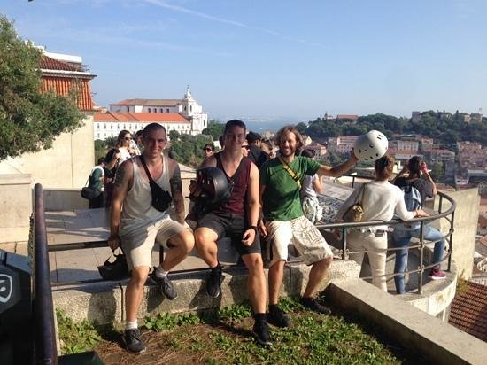 Lisbon by Segway : My brother, me and our guide Jorge!
