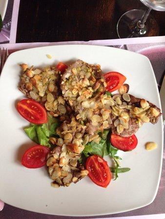 Rosticceria Il Re Gallo : Duck breast with almonds and pistachios