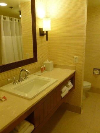Tropicana Las Vegas - A DoubleTree by Hilton Hotel : Bathroom design was fine, but toilet was very loud