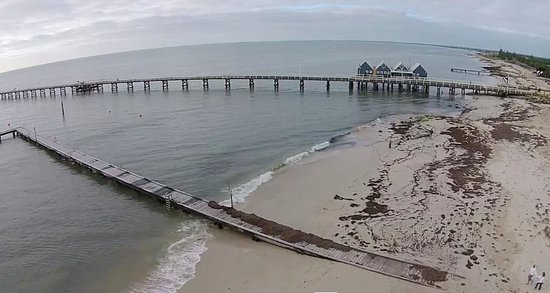 Busselton Jetty : Arial shot of Jetty
