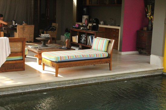 Di Astana Villa: Outdoor area of one bedroom with pool