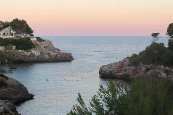 Hotel Marina Skorpios : solnedgang fra balkonnen