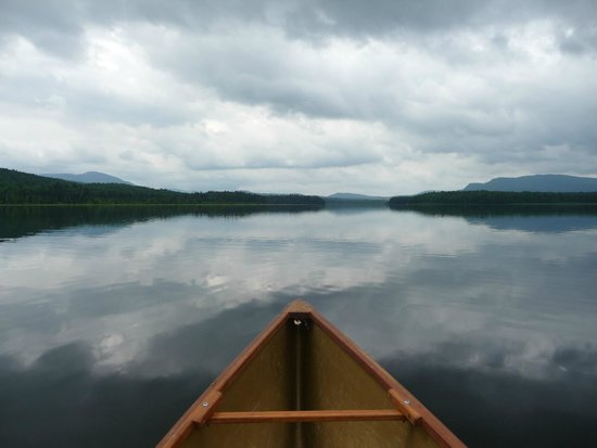 Adirondack Park: Morning on a lake in the park