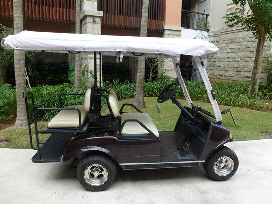 Sofitel Bali Nusa Dua Beach Resort: Golf carts for transportation....