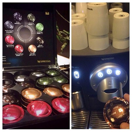 The Pod - Boutique Capsule Hostel: Their Nespresso Coffee Machine. Ask the receptionist for the coffee powder