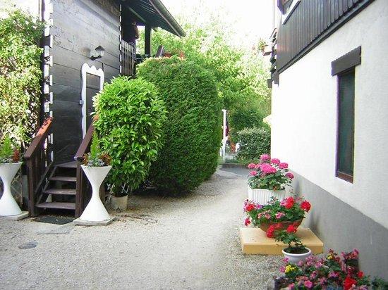 A L'Ombre Des Marronniers: Arrière de l'hotel le jardin