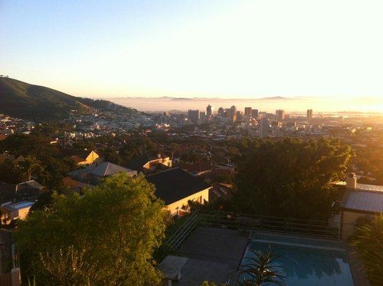 Blue Sky B&B: Blick Richtung Cape Town