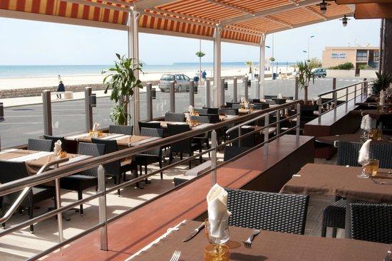 Hotel Mediterranee Port-La-Nouvelle : Terrasse du restaurant