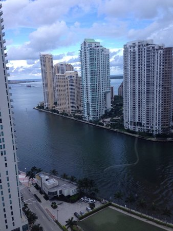 JW Marriott Marquis Miami : View from our room on the 21st floor, beautiful