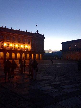 Hotel Carris Casa de la Troya : Santiago la sera