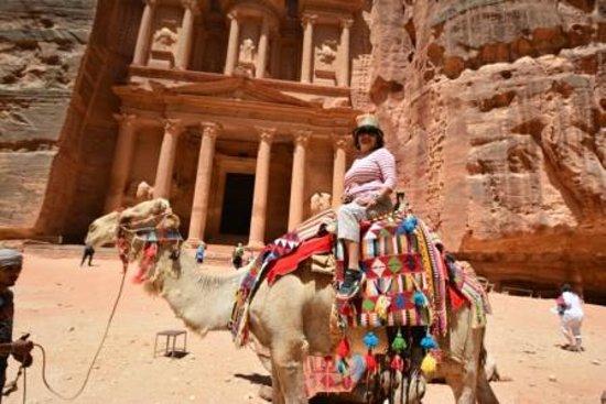 Pétra : On camel in Petra