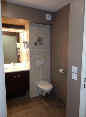 Appart'Hôtel Odalys Confluence : Le lavabo et les WC.