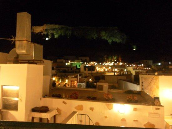 Acropolis Roof Garden Restaurant: Late night view