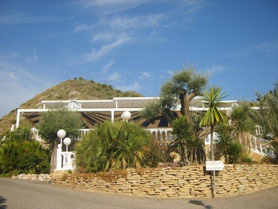 Centro Vacacional Macenas: terrasse du restaurant