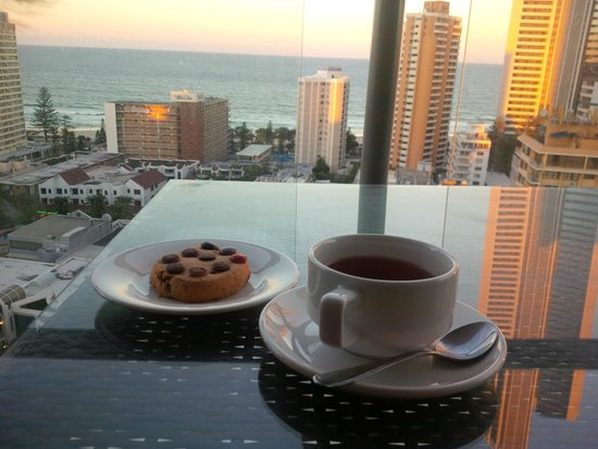 Mantra Towers of Chevron: evening tea at room's balcony