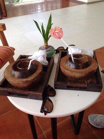Centara Villas Samui: Welcoming drinks
