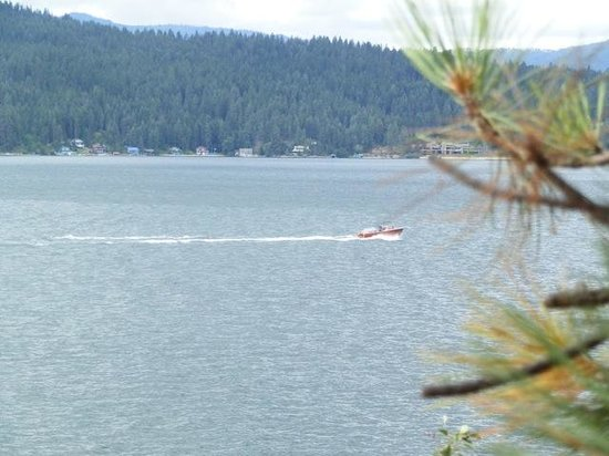 The Coeur d'Alene Resort: The lake as seen from the walking trail.