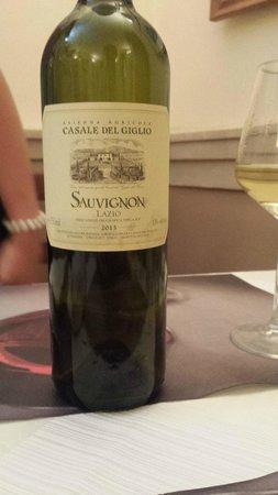 Osteria Barberini: Lovely wine