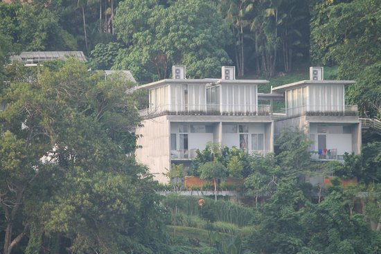 Belum Rainforest Resort: hotel viewed from the lake